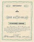 Aktiebrev från 1873