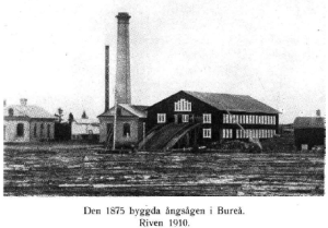 Ångsågen byggd 1875 och riven 1910